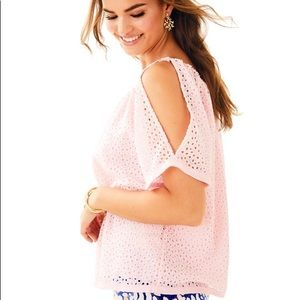 NWT LILY PULITZER Lillette Top in Paradise Tint
